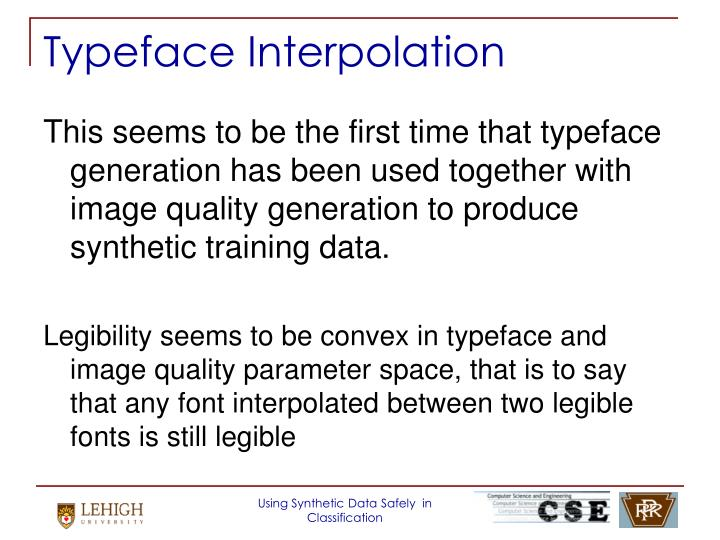 Typeface Interpolation