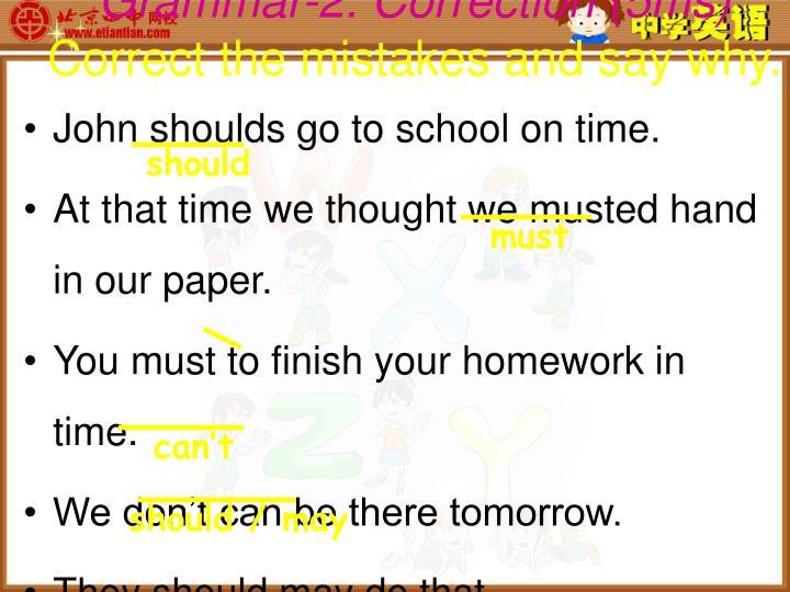 Grammar-2. Correction (5ms)