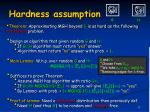 hardness assumption1