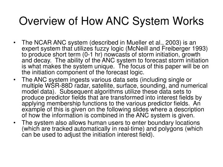 Overview of how anc system works