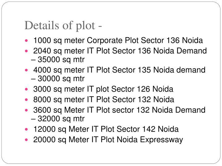 Details of plot -