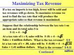maximizing tax revenue