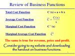 review of business functions1