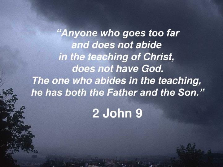 """Anyone who goes too far"