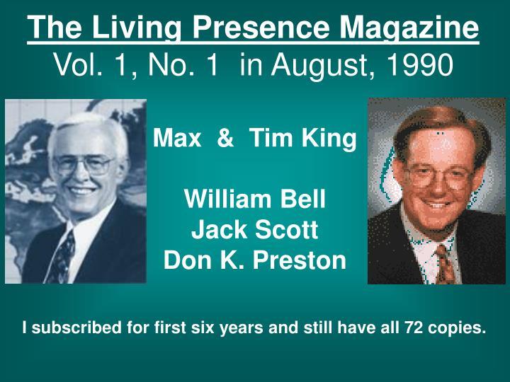 The Living Presence Magazine