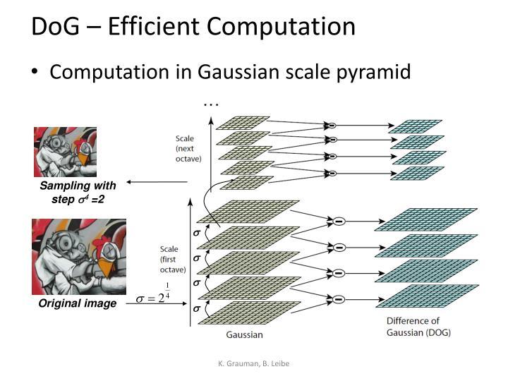 DoG – Efficient Computation