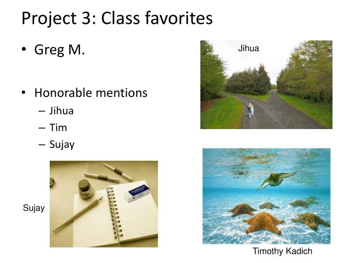 Project 3: Class favorites