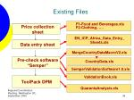existing files