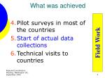 what was achieved1