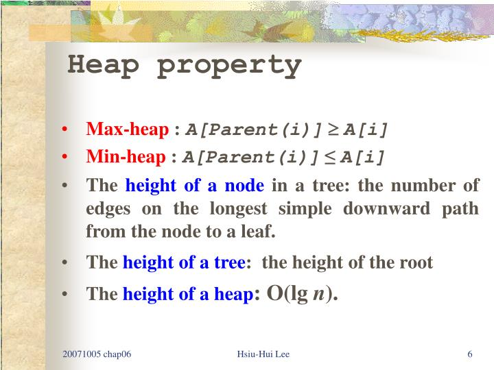 Heap property