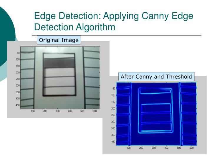 Edge Detection: Applying Canny Edge Detection Algorithm