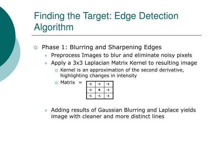 Finding the Target: Edge Detection Algorithm