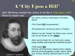 a city upon a hill