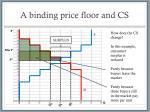 a binding price floor and cs