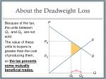 about the deadweight loss