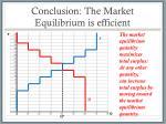 conclusion the market equilibrium is efficient