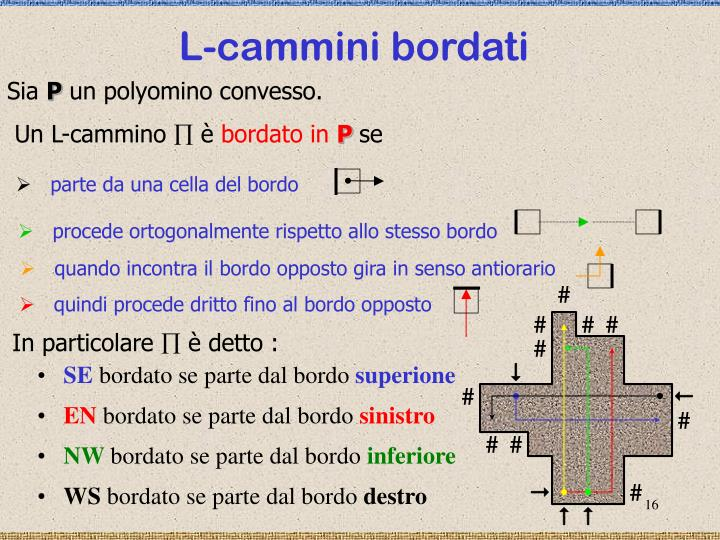 L-cammini bordati