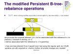 the modified persistent b tree rebalance operations1