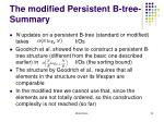 the modified persistent b tree summary1