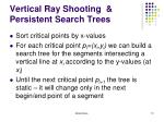 vertical ray shooting persistent search trees
