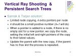 vertical ray shooting persistent search trees11