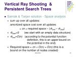vertical ray shooting persistent search trees16