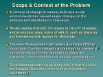 scope context of the problem