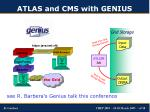 atlas and cms with genius