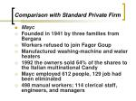 comparison with standard private firm3
