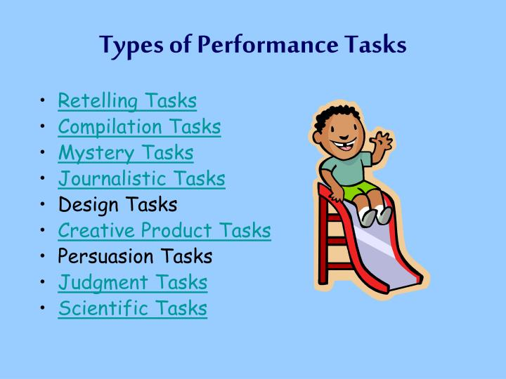 Types of Performance Tasks