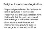 religion importance of agriculture