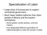 specialization of labor1