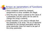 arrays as parameters of functions1