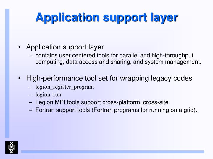 Application support layer