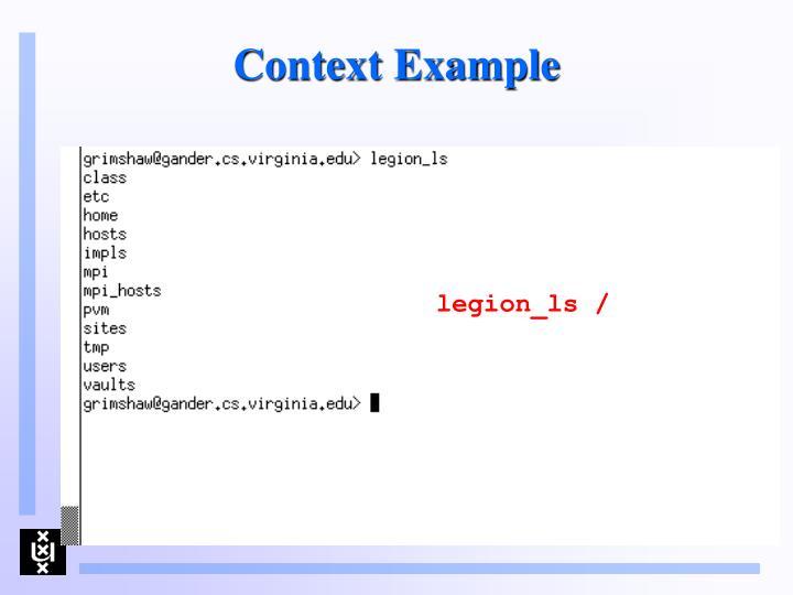 Context Example