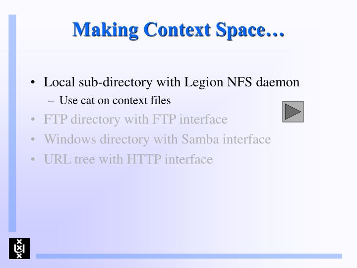 Making Context Space…