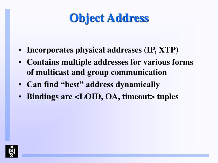 Object Address