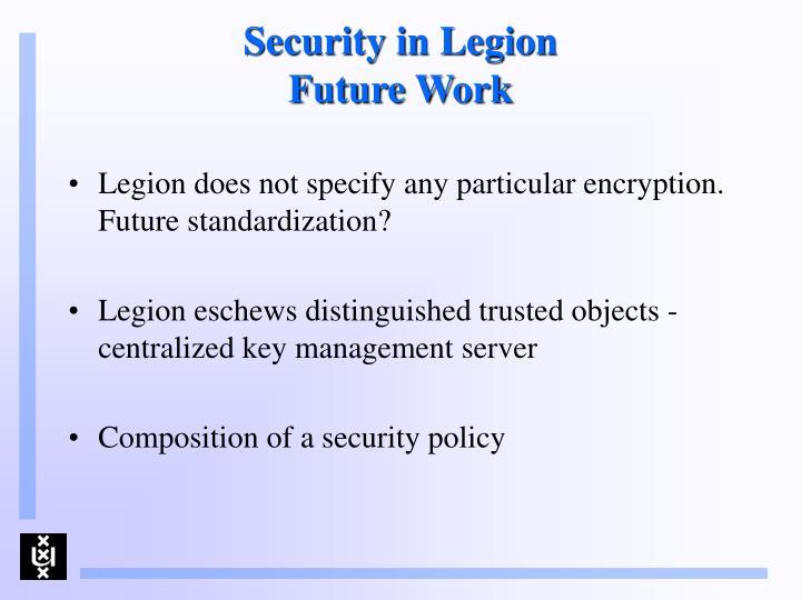 Security in Legion