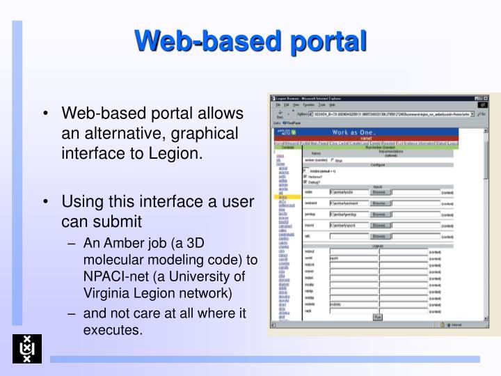 Web-based portal