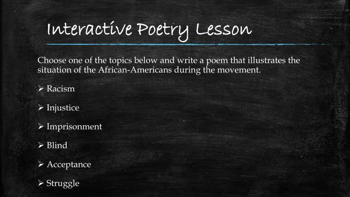 Interactive Poetry Lesson