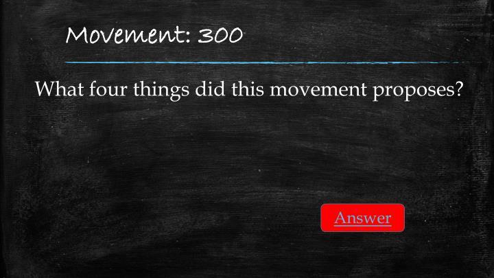 Movement: 300
