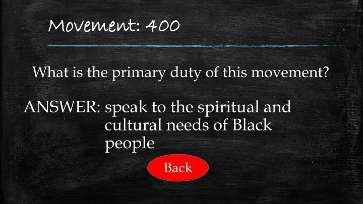 Movement: 400