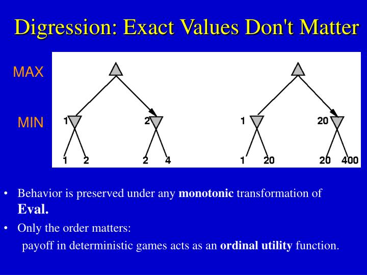 Digression: Exact Values Don't Matter