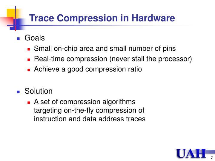 Trace Compression in Hardware