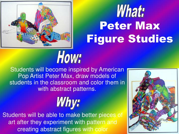 Peter max figure studies