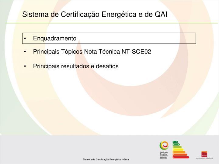 Sistema de certifica o energ tica e de qai