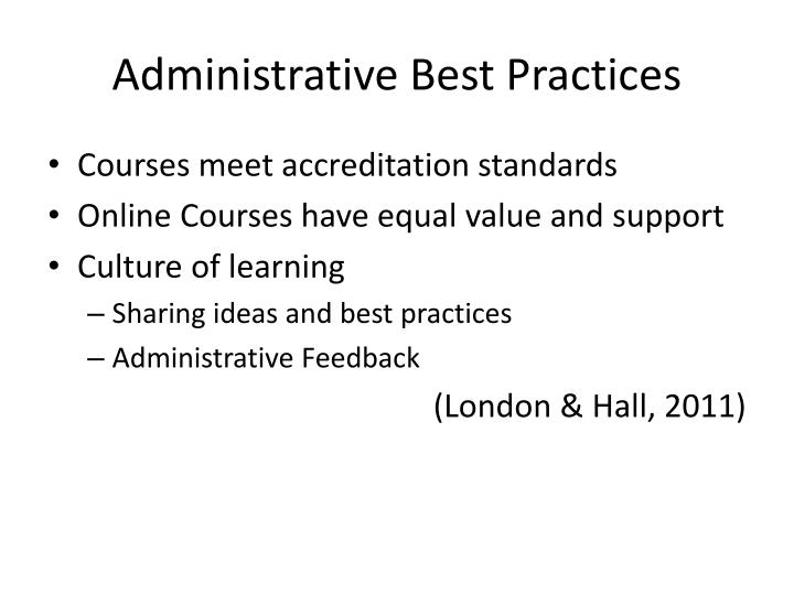 Administrative Best Practices