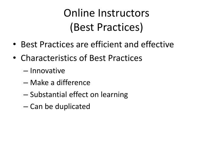 Online Instructors