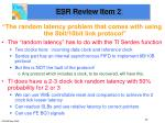 esr review item 2