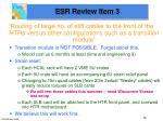 esr review item 3